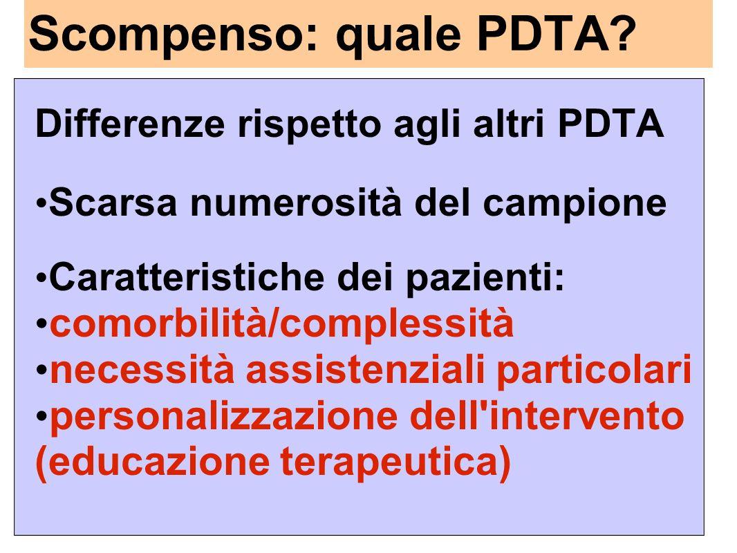 Scompenso: quale PDTA comorbilità/complessità