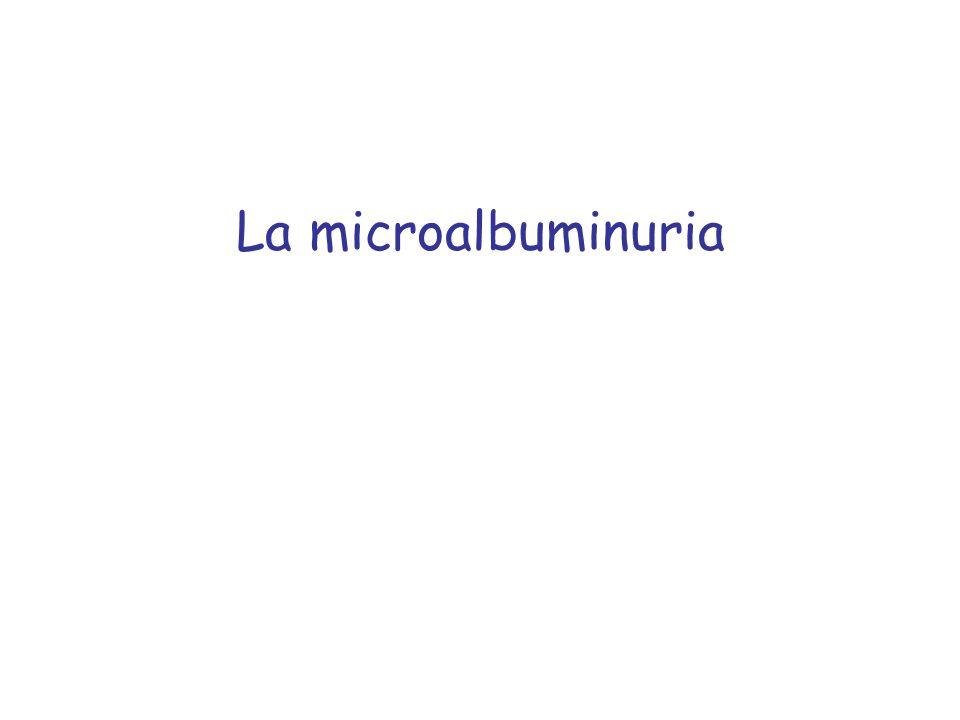 La microalbuminuria