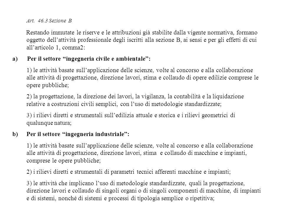 Art. 46.3 Sezione B