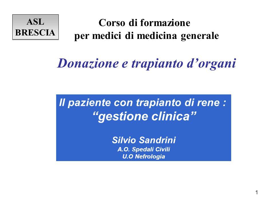 Donazione e trapianto d'organi