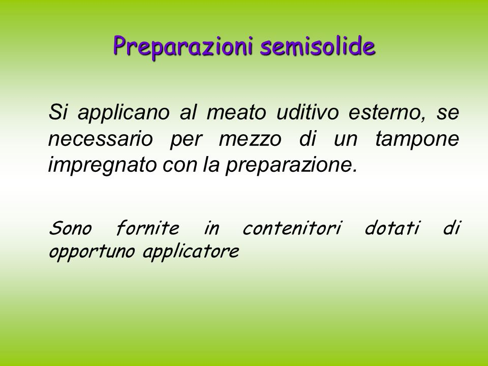 Preparazioni semisolide