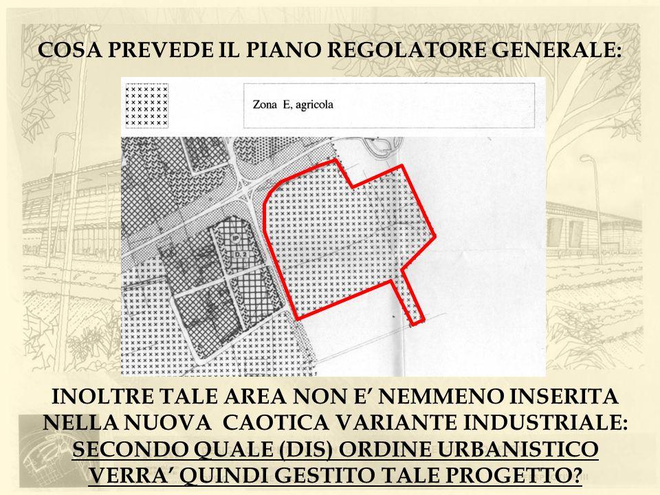 COSA PREVEDE IL PIANO REGOLATORE GENERALE: