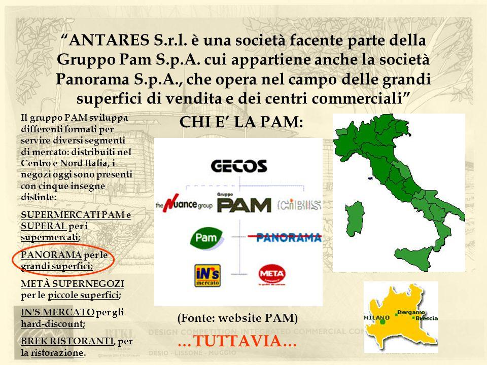 ANTARES S. r. l. è una società facente parte della Gruppo Pam S. p. A