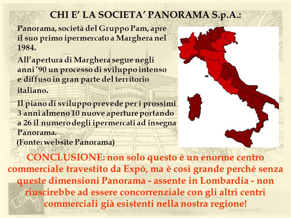 CHI E' LA SOCIETA' PANORAMA S.p.A.: (Fonte: website Panorama)