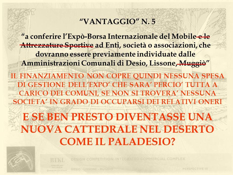 VANTAGGIO N. 5