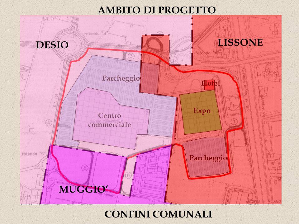 AMBITO DI PROGETTO LISSONE DESIO MUGGIO' CONFINI COMUNALI
