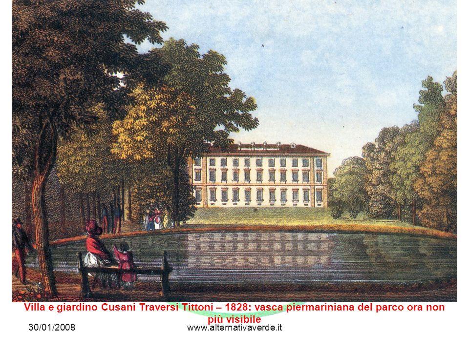 Villa e giardino Cusani Traversi Tittoni – 1828: vasca piermariniana del parco ora non più visibile