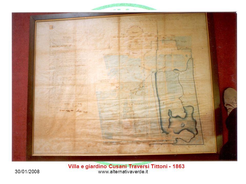 Villa e giardino Cusani Traversi Tittoni - 1863