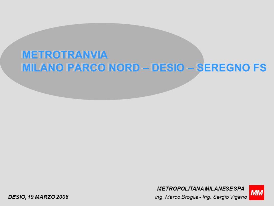 METROTRANVIA MILANO PARCO NORD – DESIO – SEREGNO FS