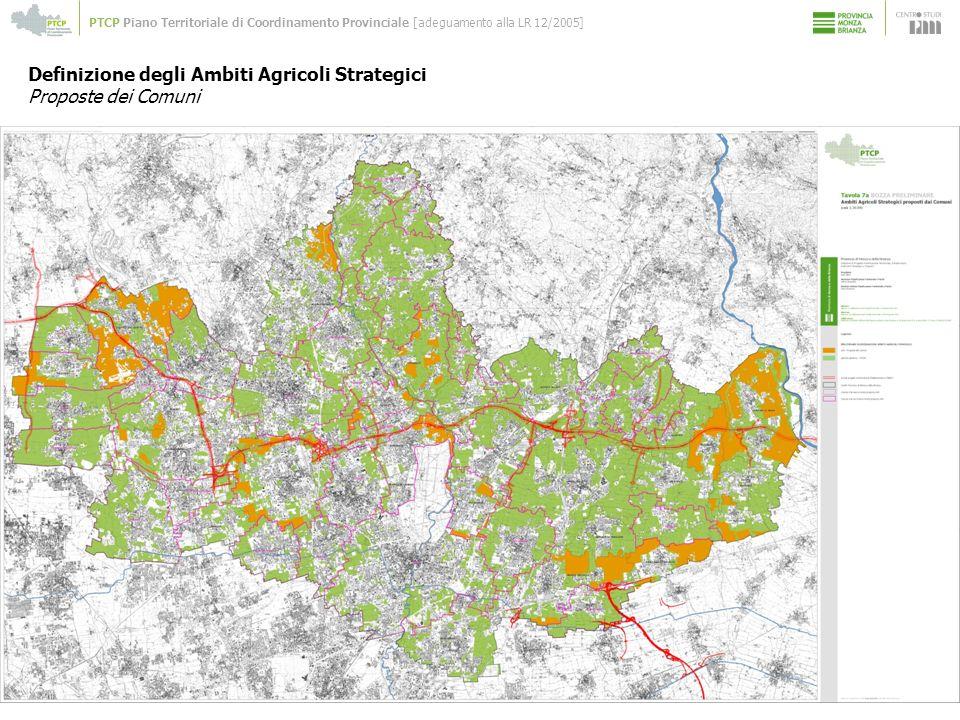 Definizione degli Ambiti Agricoli Strategici Proposte dei Comuni