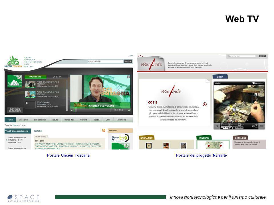 Web TV Portale Uncem Toscana Portale del progetto Narrarte