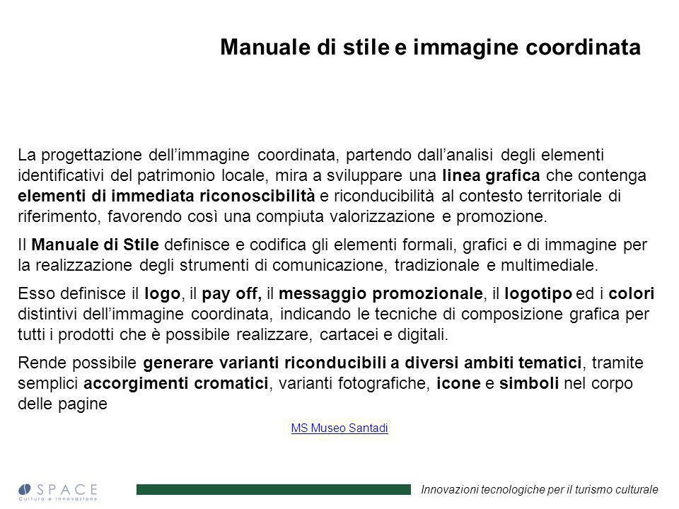 Manuale di stile e immagine coordinata