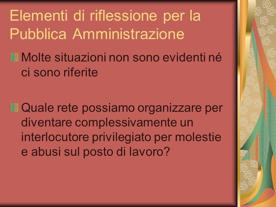 Elementi di riflessione per la Pubblica Amministrazione