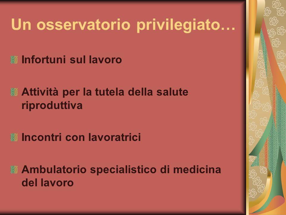 Un osservatorio privilegiato…