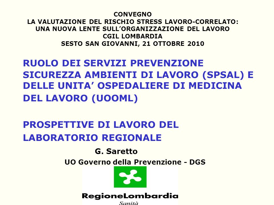 UO Governo della Prevenzione - DGS