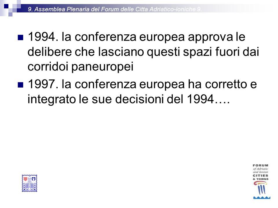 9. Assemblea Plenaria del Forum delle Citta Adriatico-ioniche 9