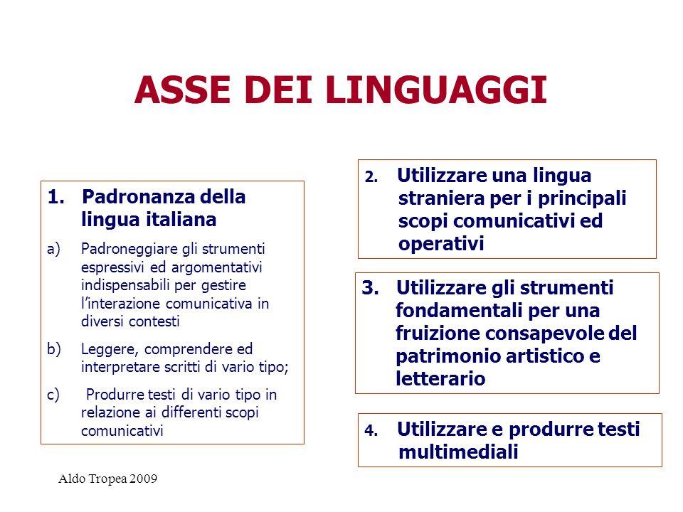 ASSE DEI LINGUAGGI 1. Padronanza della lingua italiana