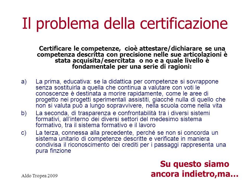 Il problema della certificazione