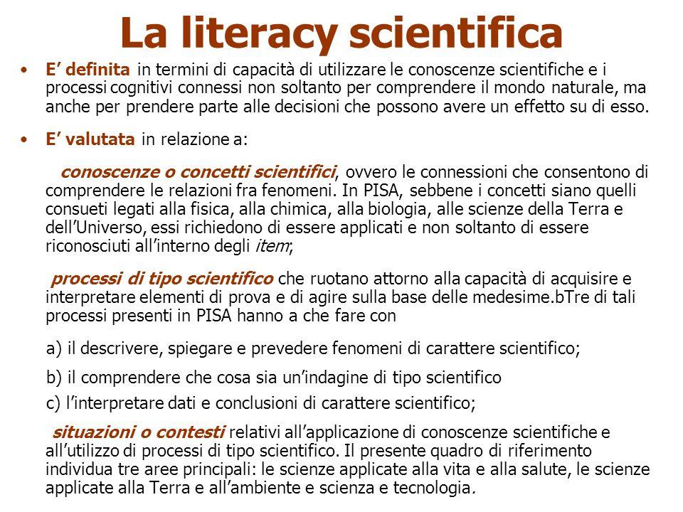 La literacy scientifica