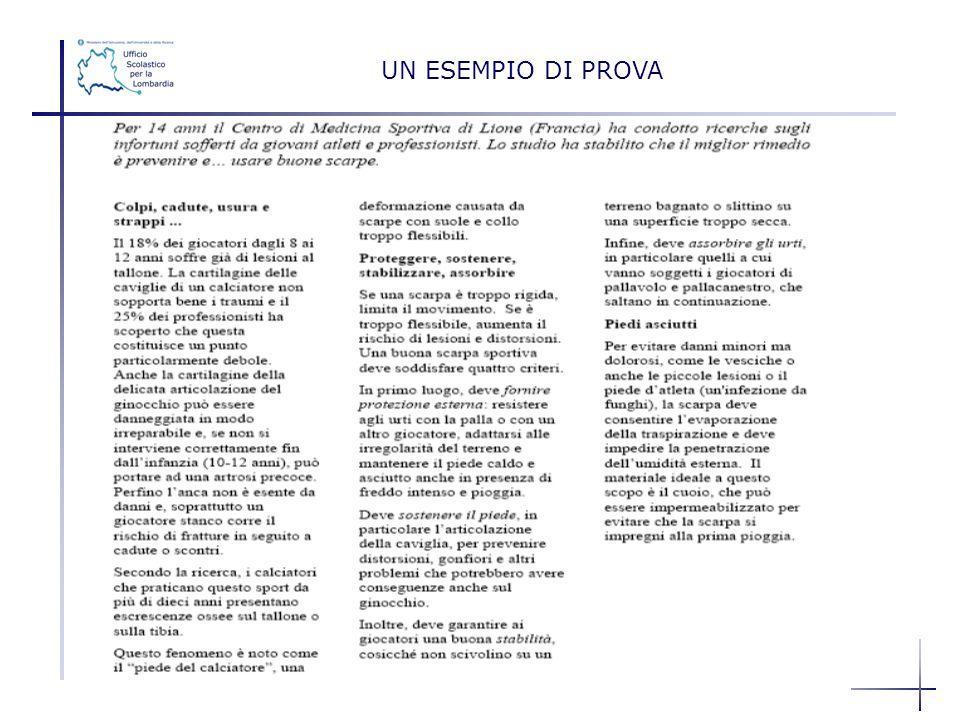 UN ESEMPIO DI PROVA Daniela Fermi