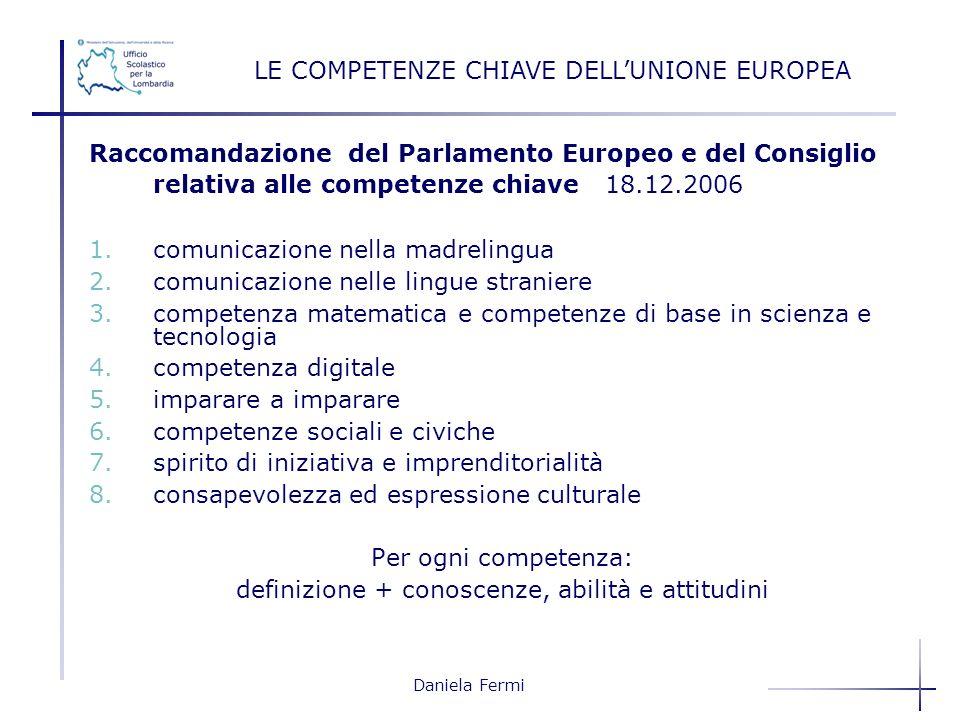 LE COMPETENZE CHIAVE DELL'UNIONE EUROPEA