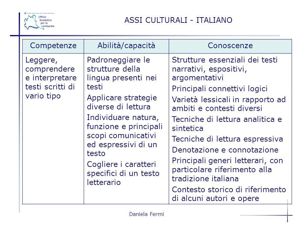 ASSI CULTURALI - ITALIANO
