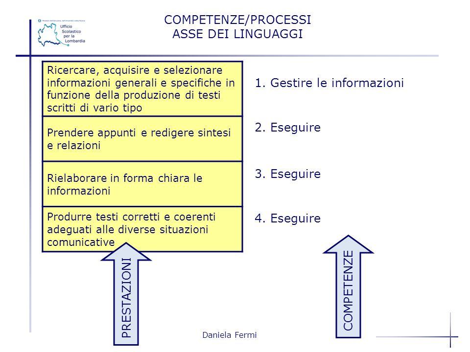 1. Gestire le informazioni