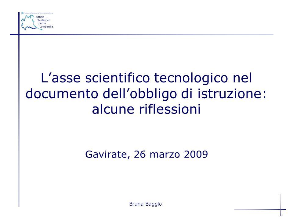 L'asse scientifico tecnologico nel documento dell'obbligo di istruzione: alcune riflessioni