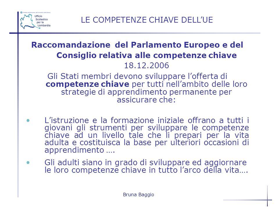 LE COMPETENZE CHIAVE DELL'UE