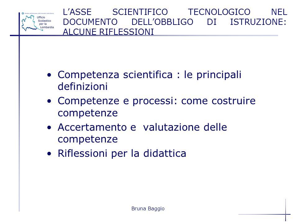 Competenza scientifica : le principali definizioni