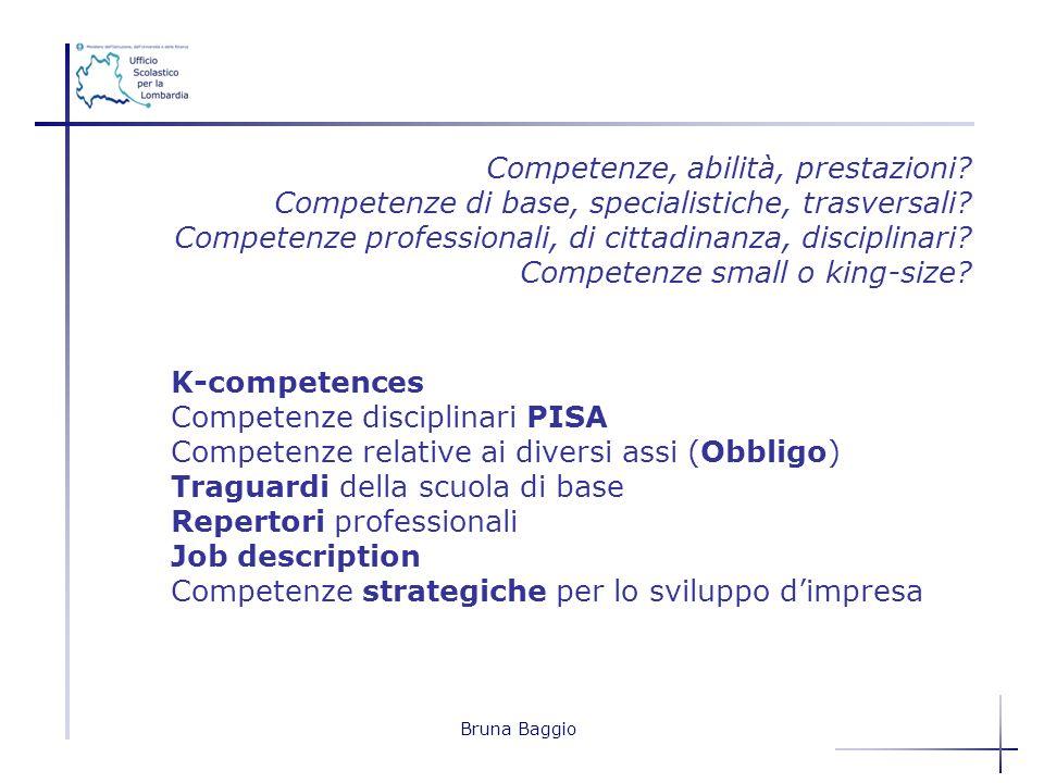 Competenze, abilità, prestazioni