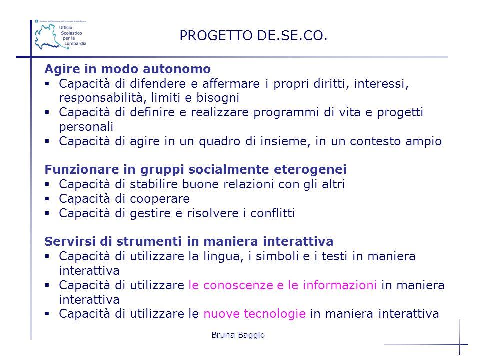 PROGETTO DE.SE.CO. Agire in modo autonomo