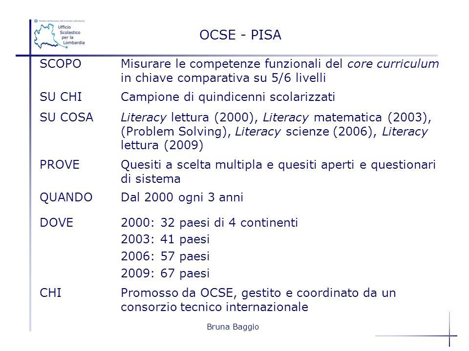 OCSE - PISA SCOPO. Misurare le competenze funzionali del core curriculum in chiave comparativa su 5/6 livelli.