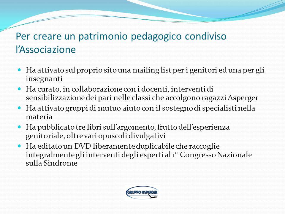 Per creare un patrimonio pedagogico condiviso l'Associazione
