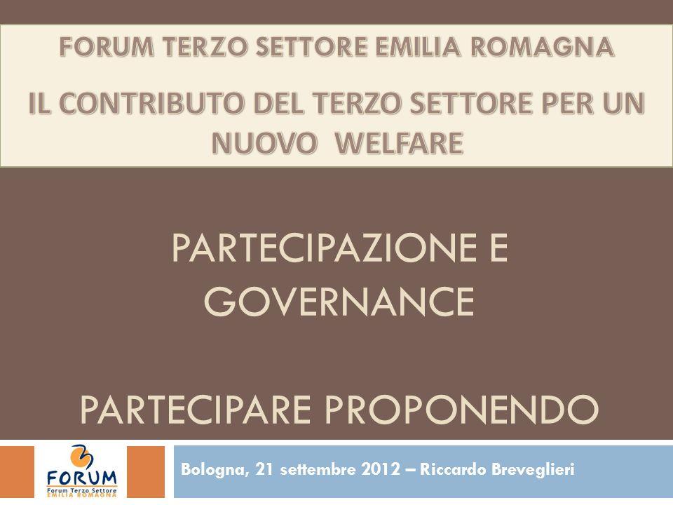 Partecipazione e governance partecipare proponendo