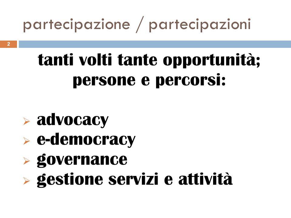 partecipazione / partecipazioni