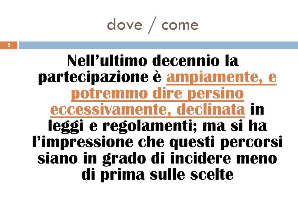 dove / come