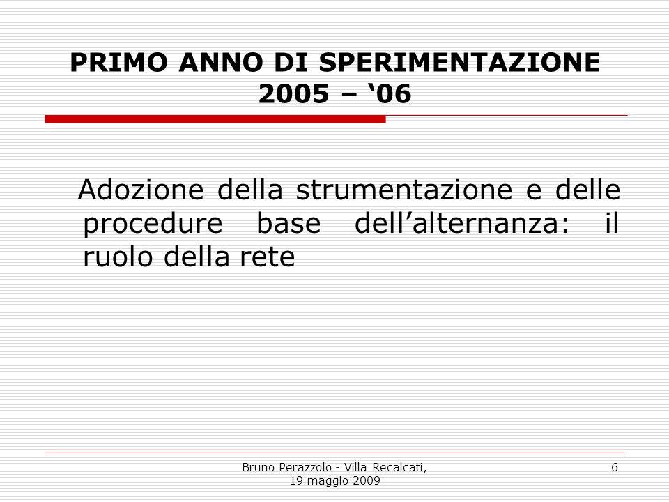 PRIMO ANNO DI SPERIMENTAZIONE 2005 – '06