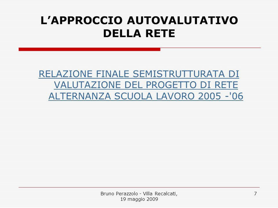 L'APPROCCIO AUTOVALUTATIVO DELLA RETE