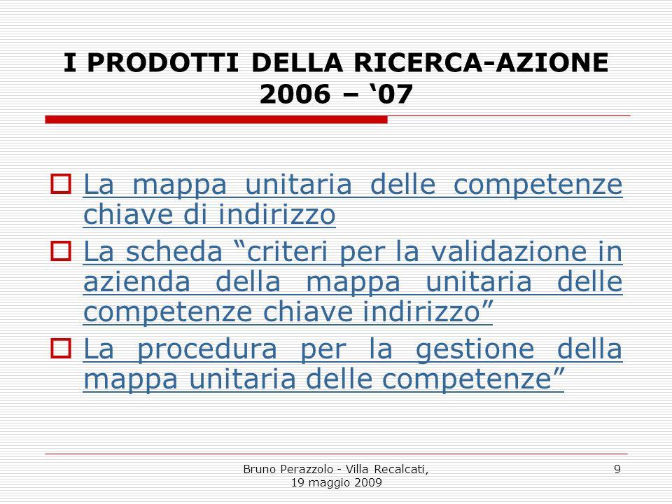 I PRODOTTI DELLA RICERCA-AZIONE 2006 – '07