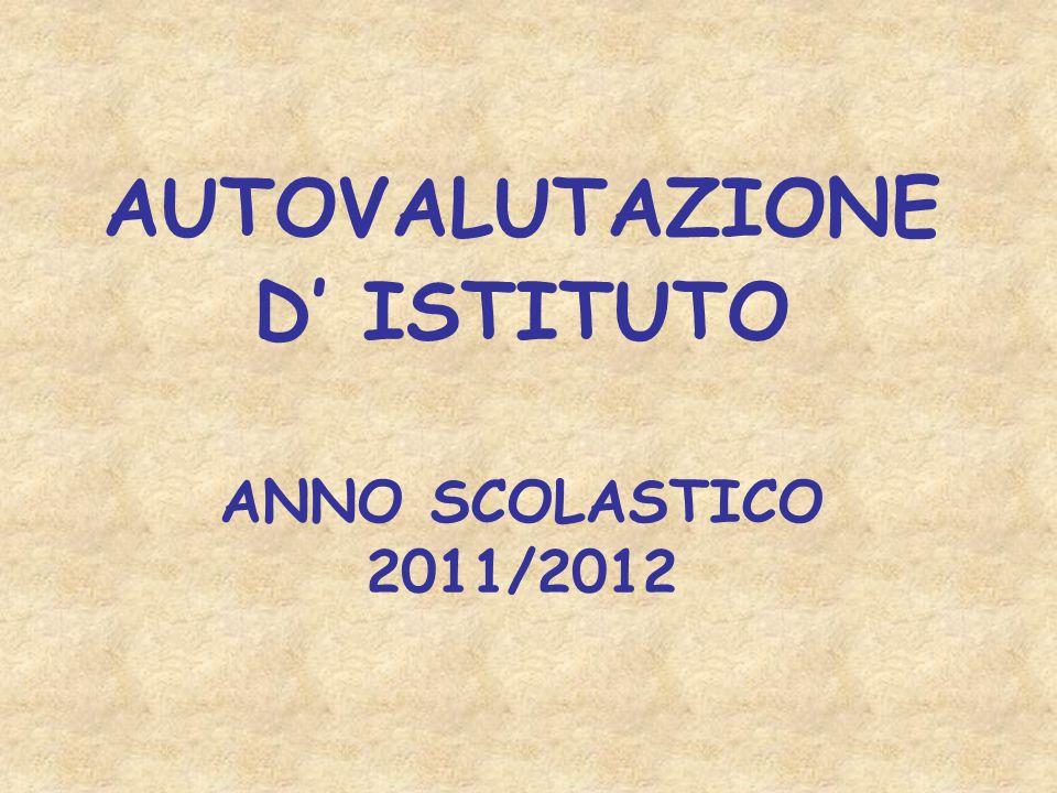 AUTOVALUTAZIONE D' ISTITUTO ANNO SCOLASTICO 2011/2012