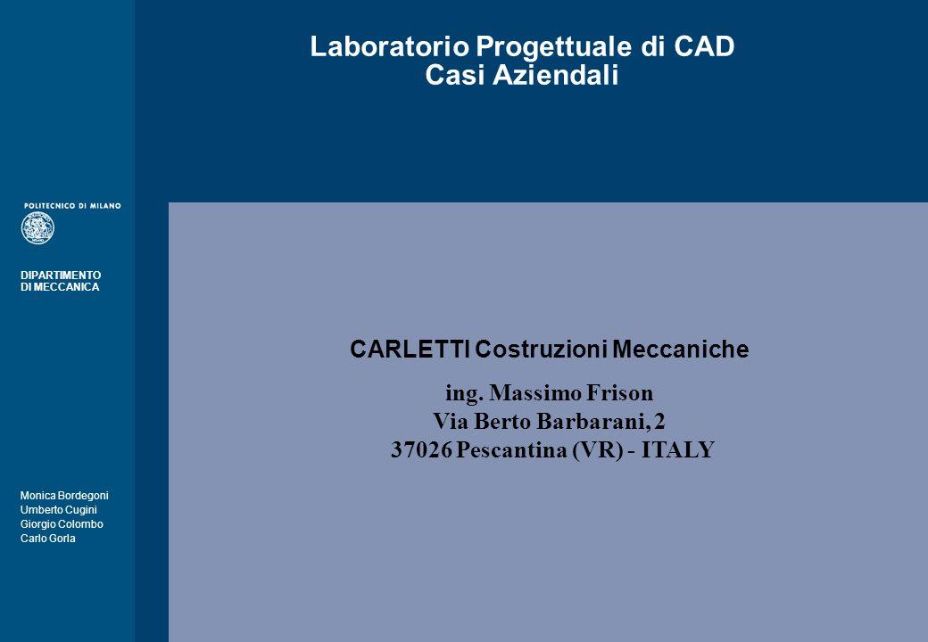 Laboratorio Progettuale di CAD Casi Aziendali