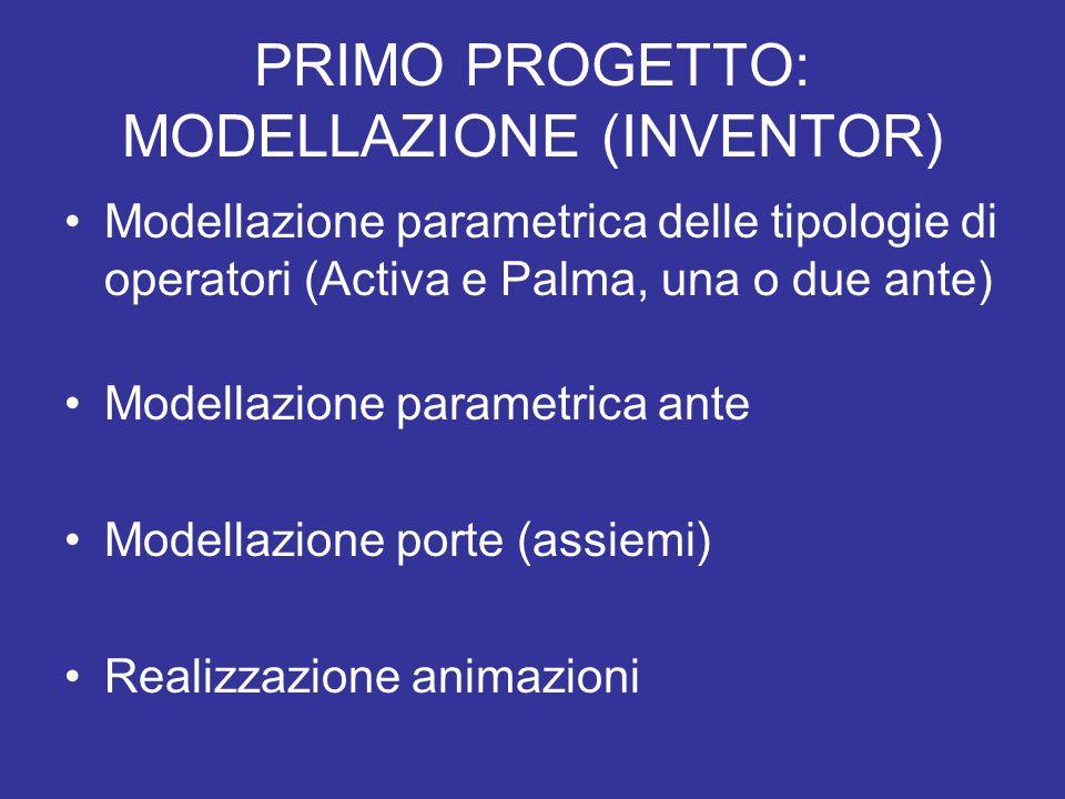 PRIMO PROGETTO: MODELLAZIONE (INVENTOR)