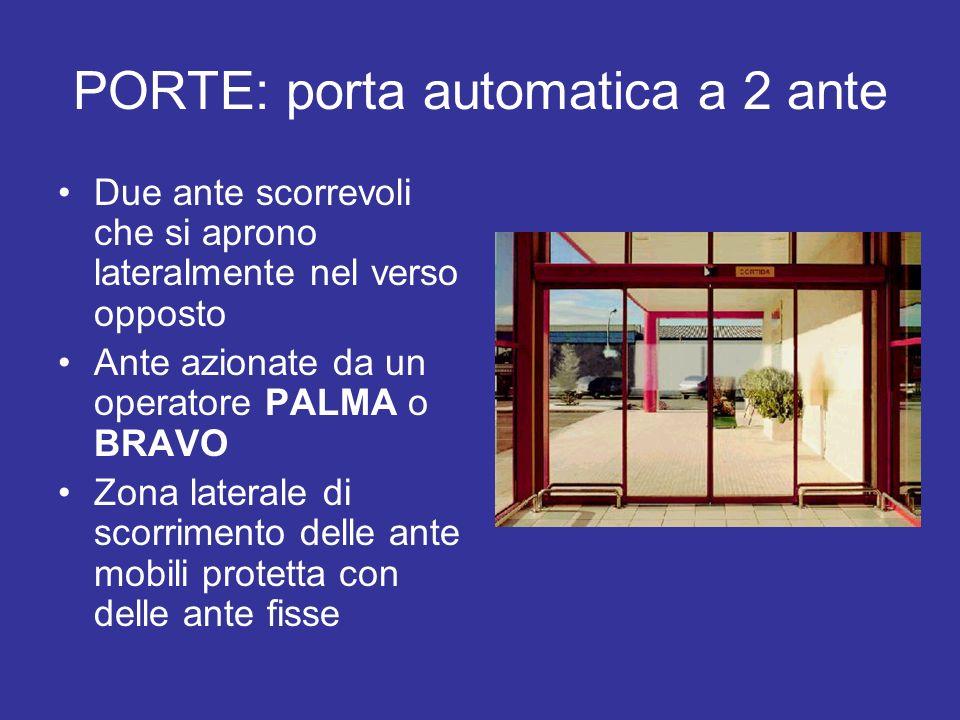 PORTE: porta automatica a 2 ante