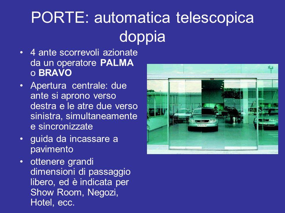 PORTE: automatica telescopica doppia