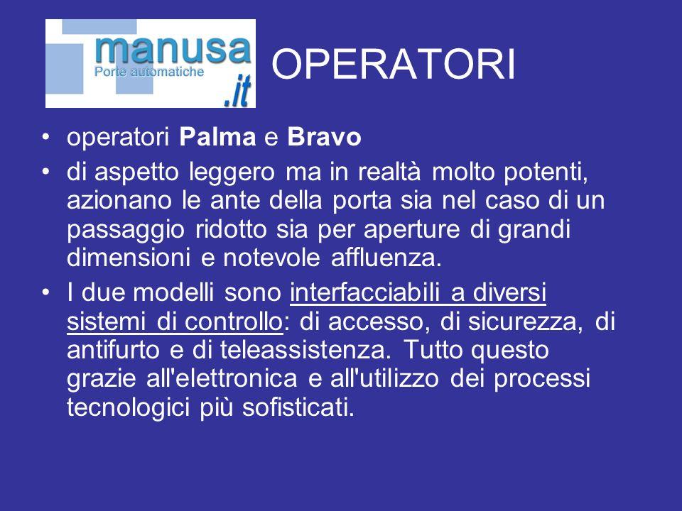 OPERATORI operatori Palma e Bravo