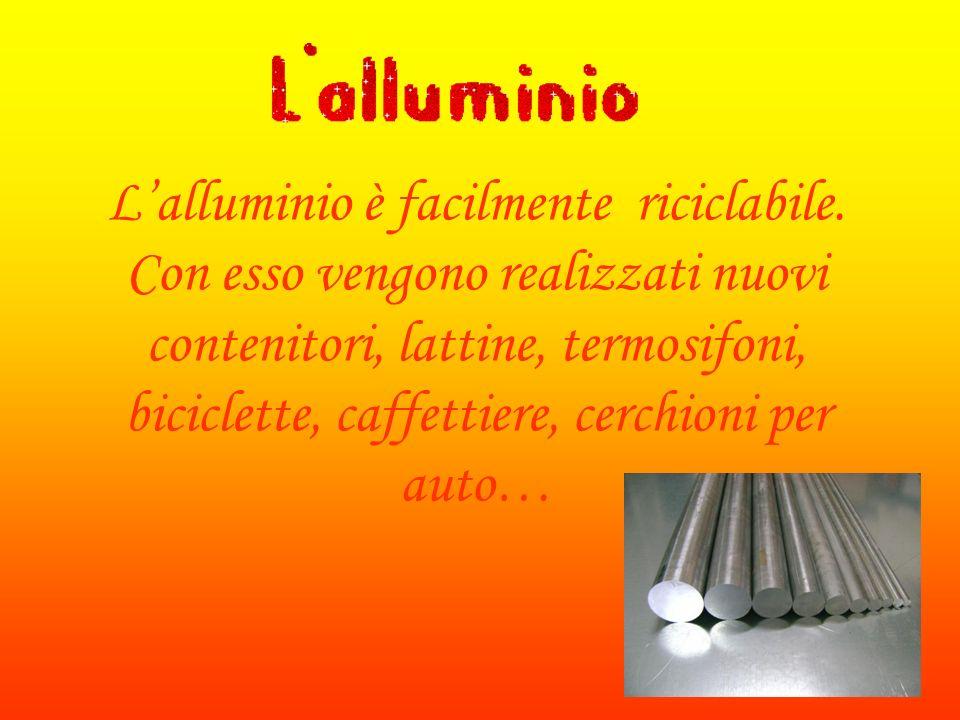 L'alluminio è facilmente riciclabile