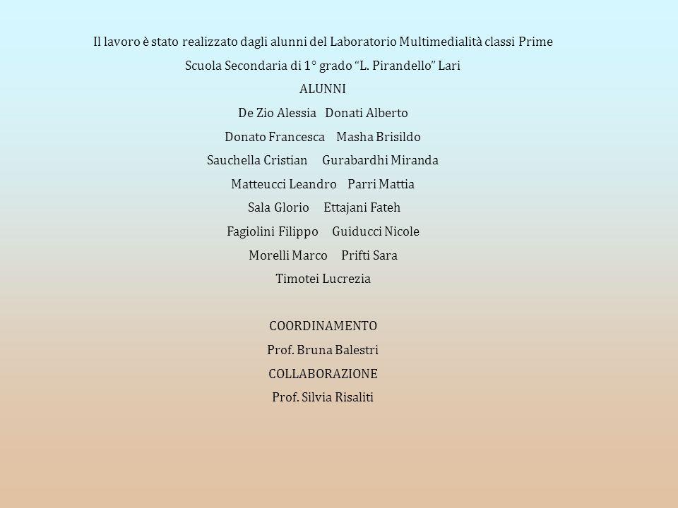 Scuola Secondaria di 1° grado L. Pirandello Lari ALUNNI