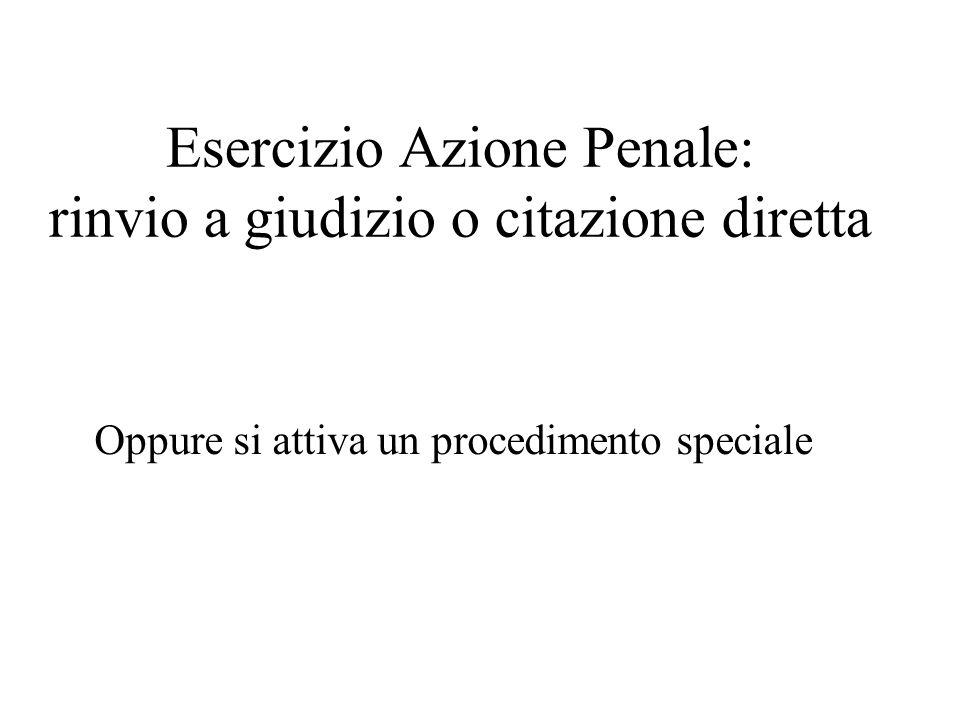 Esercizio Azione Penale: rinvio a giudizio o citazione diretta