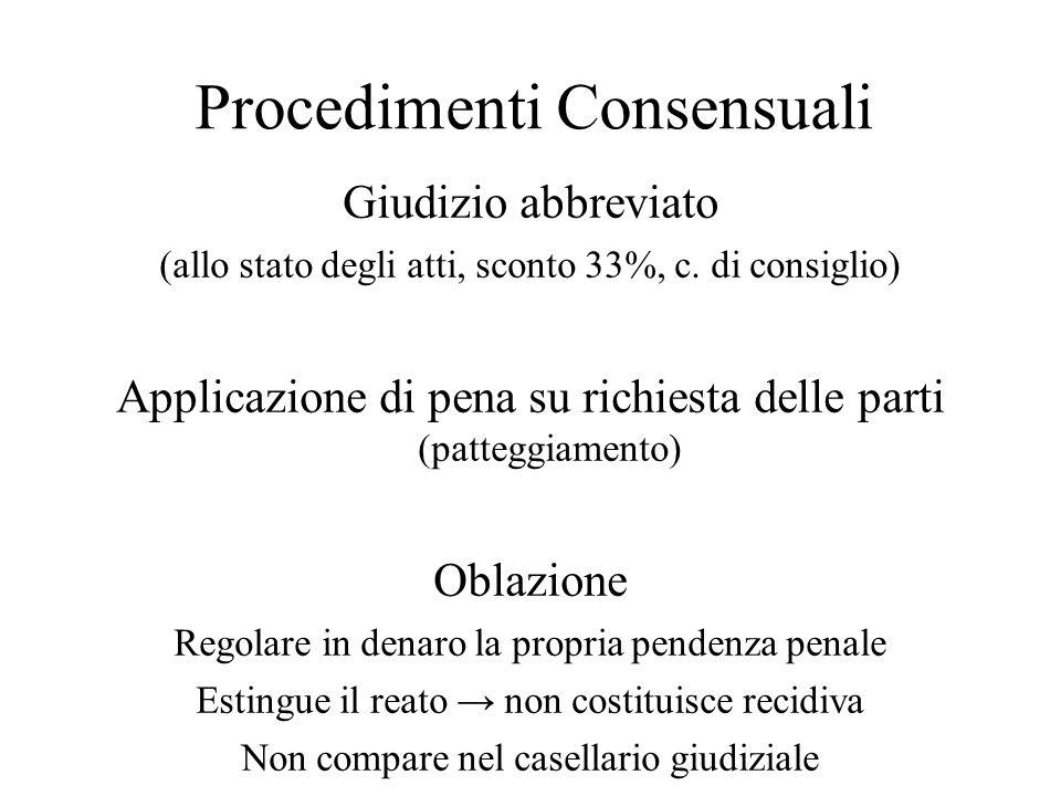 Procedimenti Consensuali